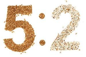 5:2 kuren (5:2 faste) skrevet i korn
